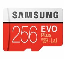 SAMSUNG EVO Plus 256GB U3 MicroSDXC Memory Card with Adapter